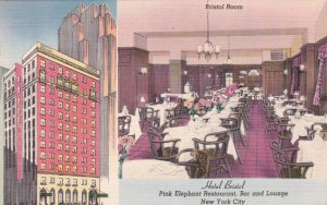 New York City Hotel Bristol Pink Elephant Restaurant Bar And Lounge