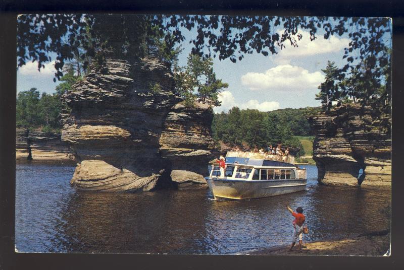 Wisconsin Dells, WI Postcard, The Sugar Bowl, Passenger Boat
