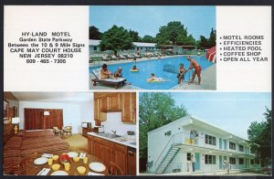 NJ ~ Hy-Land Motel Garden State Parkway CAPE MAY COURT HOUSE pm1992 1950s-1970s