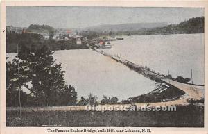 The Famous Shaker Bridge built 1848 Lebanon, New Hampshire, NH, USA Unused