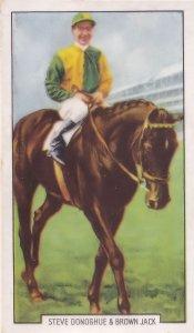 Steve Donoghue Horse Race Racing Jockey 1930s Cigarette Card