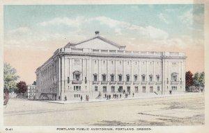PORTLAND , Oregon , 1900-10s ; Public Auditorium