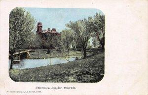 University, Boulder, Colorado, Early Postcard, Unused