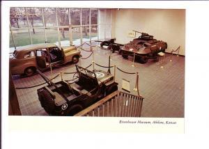 Military Hall Cars, Weapons, Eisenhower Museum Interior, Abilene, Kansas, Pho...