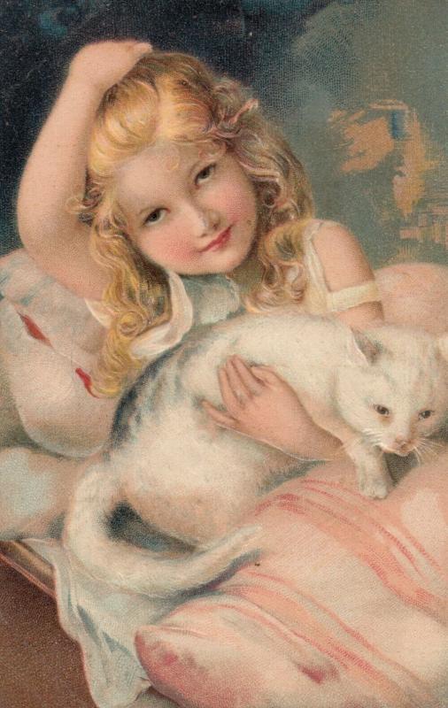 PFB Serie 5563; Girl & Cat , 00-10s : #2