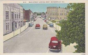 North Carolina Waynesvlle Main Street Looking West