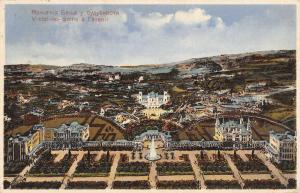 Vintzi Greece Baths Birdseye View Antique Postcard K72297