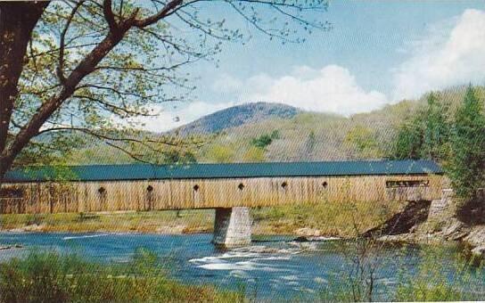Covered Bridge Old Covered Bridge West Dummerston Vermont