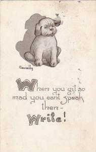 Fred Cavally Dog Series When you get so mad 1914
