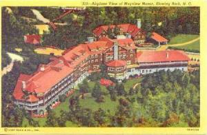 Airplane view of Mayview Manor, Blowing Rock, North Carolina, 30-40s