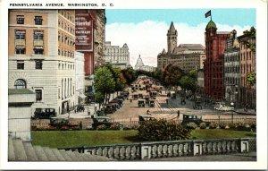 Vtg 1920s Pennsylvania Avenue Washington DC Postcard