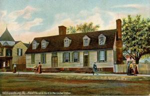 VA - Williamsburg. First Theatre Built in the United States (Virginia)