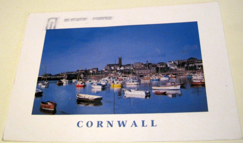 England Cornwall Penzance Harbour CCCW18 John Hinde - posted 2001