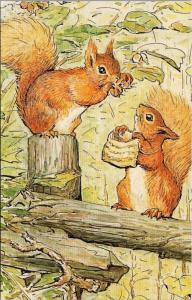 The World Of Peter Rabbit The Tale of Squirrel Nutkin Unused Postcard D49