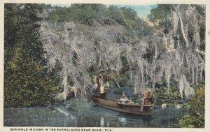 MIAMI , Florida , 00-10s ; Seminole Indians in the Everglades
