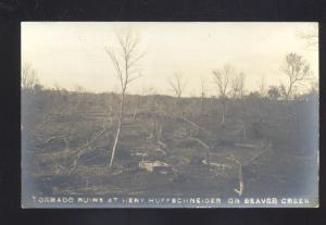 RPPC BEAVER CROSSING NEBRASKA BEAVER CREEK TORNADO RUINS REAL PHOTO PSOTCARD