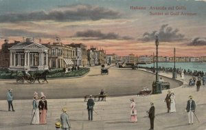 HABANA, Cuba, 1900-10s; Sunset at Gulf Avenue