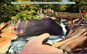 New Hampshire White Mountains Franconia Notch The Basin and Old Man's Foot