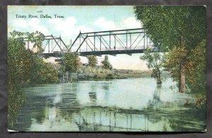 dc312 - DALLAS Texas 1910s Trinity River Bridge