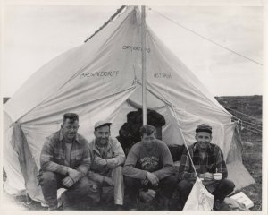 RP; 1952 Geologial Survey Party, N. Canada ; 13 Photos; Helicopter