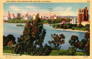California Oakland Lake Merritt and Lakeside Park 1941
