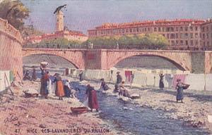 France Nice Les Lavandieres Du Paillon Wash Day 1927