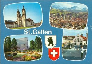 Switzerland, Suisse, St. Gallen, 1979 used Postcard