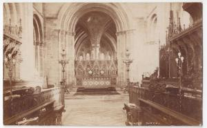 Hereford; Cathedral Interior, Bath Choir RP PPC, Unposted, By Wilson