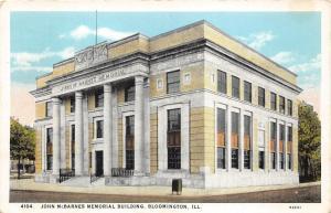 Bloomington Illinois~John McBarnes Memorial Building~Columns @ Door~Mailbox~'20s