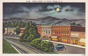 North Carolina Tryon Trade Street At Night