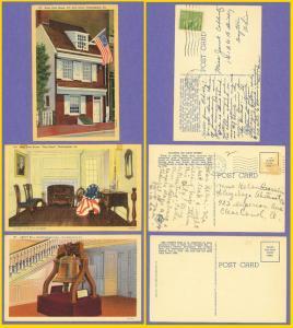 3 Philadelphia PA-Ross House & Flag Room, Liberty Bell -1941