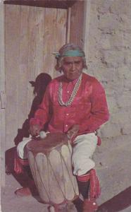 Pueblo Indian Drummer, Cochiti Pueblo, New Mexico,PU-1959