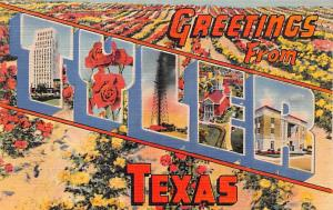 Post Card Old Vintage Antique Greetings From Tyler Texas, USA Unused