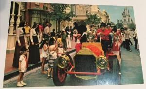 Vintage Mickey Mouse Walt Disney World Florida Postcard Fire Engine Castle