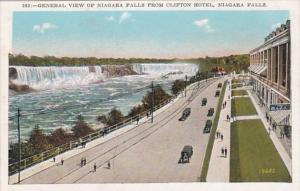 New York Niagara Falls General View From Clifton Hotel