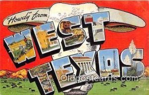 West Texas, USA Postcard Post Cards Texas, USA West