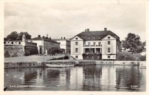 Karlskrona Sweden Lansresidensel Scenic View Real Photo Antique Postcard J67951