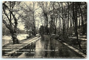 Postcard DE Wilmington North Race Southest From Franklin Street 1910 View