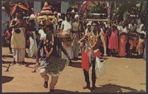 Kavadi Dancers,Part of the Kandy Perahera,Ceylon Postcard