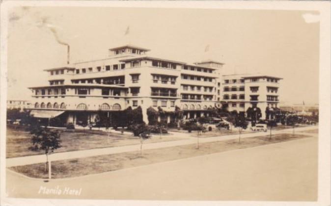 Philippines Manila The Manila Hotel 1920 Real Photo