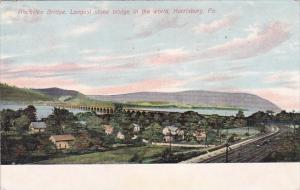 Pennsylvania Harrisburg Rockville Bridge Longest Stone Bridge In The World 1909