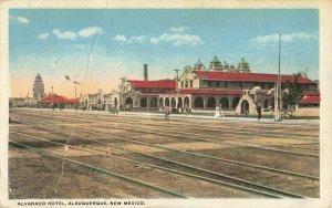 Postcard Alvarado Hotel Albuquerque New Mexico Posted 1920