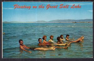 Floating on the Great Salt Lake,UT
