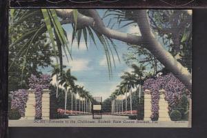 Entrance Clubhouse,Hialeah Race Course,Hialeah,FL Postcard
