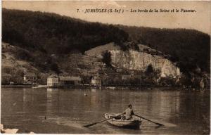 CPA JUMIEGES-Les bords de la SEINE et le Passeur (348020)