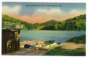 Lake Leatherwood, near Eureka Springs, Arkansas, unused Linen PP