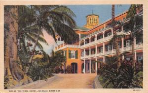 NASSAU BAHAMAS ROYAL VICTORIA HOTEL POSTCARD c1940s