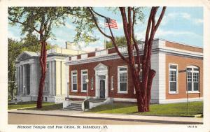 St Johnsbury VT~Masonic Temple & Post Office (Now Art Center/Restaurant) 1940s
