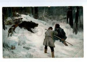 183635 RUSSIA BEAR HUNTING Stepanov on den Vintage EGSiS #18