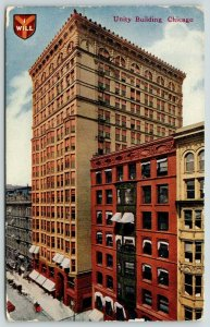 Chicago IL~Unity Building~North Dearborn Street~Demolished 1989~I WILL~1912 PC